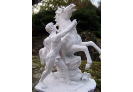 347794 FIGURINE SCULPTURE BLANCHE REPRODUCTION CHEVAL DE MARLY