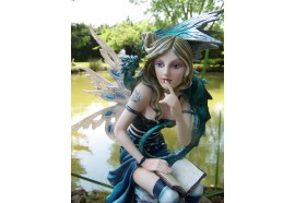 15312 GRANDE STATUETTE FIGURINE FEE FAIRY ELFE DRAGON HEROIC FANTASY GM