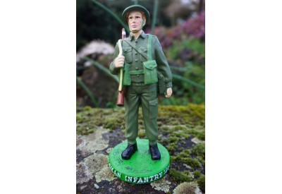 RE0238  FIGURINE STATUETTE SOLDAT ANGLAIS BRITANIQUE RIFLEMAN  1944