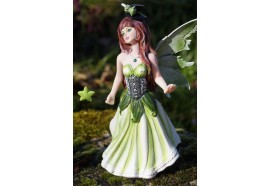 15523  FIGURINE STATUETTE  FEE AVEC CHAPEAU     HEROIC  FANTASY FAIRY DREAMS