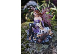 15526  FIGURINE STATUETTE  FEE ET CHEVAL   HEROIC  FANTASY FAIRY DREAMS