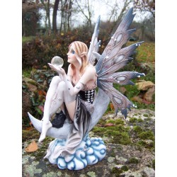 15336 GRANDE STATUETTE FIGURINE FEES LUNE FEE FAIRY ELFE