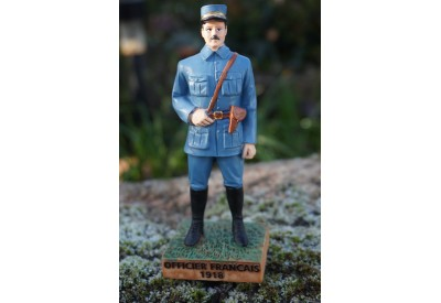 RE0318  FIGURINE  STATUETTE  OFFICIER FRANCAIS 1918 SOLDAT POILU