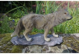 WOLF23 A  FIGURINE  STATUETTE   LOUP CANIN  CHIEN   HEROIC FANTASY