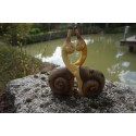 NA0552   FIGURINE  STATUETTE 2   ESCARGOTS  AMOUREUX  NATURE   ANIMAL PROMO
