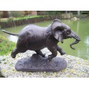 RE0073 ELEPHANT DU SENEGAL DE BARYE REPRODUCTION FIGURINE STATUETTE
