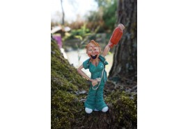 01412006 FIGURINE METIER CARICATURE INFIRMIERE  HOPITAL  COLLECTION LES ALPES