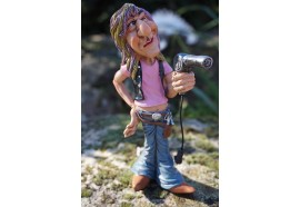 01412049 FIGURINE METIER CARICATURE COIFFEUR COLLECTION LES ALPES JL DAVID