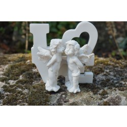 P889-217 A  ANGE BLANC  CHERUBIN  AMOUR  LOVE   HEROIC FANTASY FIGURINE FEE FEES