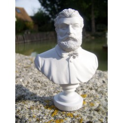 RE0119 FIGURINE STATUETTE REPRODUCTION BUSTE STYLE ALBATRE MUSICIEN BIZET