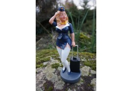 815.3011  FIGURINE METIER CARICATURE HOTESSE DE L AIR  SEXY  EROTIQUE LES  ALPES