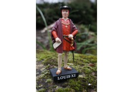 RE0133 FIGURINE STATUETTE REPRODUCTION LOUIS XI ROI HISTOIRE