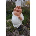 841.1025 FIGURINE METIER CARICATURE CHEF  CUISINIER    COLLECTION LES  ALPES CHEF