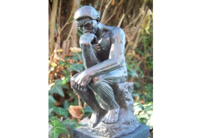 RE0144 FIGURINE STATUETTE REPRODUCTION LE  PENSEUR DE A. RODIN STYLE BRONZE