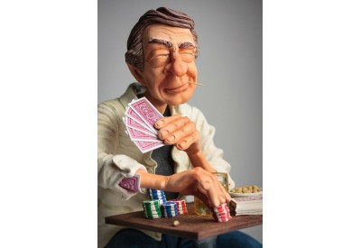 FO85545 FIGURINE METIER POKERFACE JOUEUR DE POCKER CARTE GUILLORMO  FORCHINO