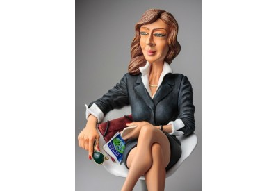 FO85546     FIGURINE METIER FEMME D  AFFAIRE BUSSINESS GUILLORMO FORCHINO