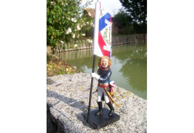 RE0159 FIGURINE STATUETTE REPRODUCTION NAPOLEON BONAPARTE EMPEREUR DRAPEAU