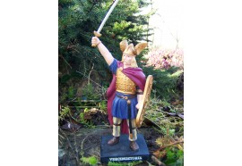 RE0176 FIGURINE STATUETTE REPRODUCTION VERCINGETORIX GAULOIS