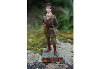 RE0310   FIGURINE  OFFICIER BRITANNIQUE 1914 1918 ANGLAIS POILU FANTASSIN 14 18