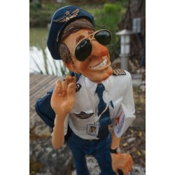FO85523  FIGURINE METIER LE PILOTE D AVION  COLLECTION FORCHINO EXCEPTIONELLE