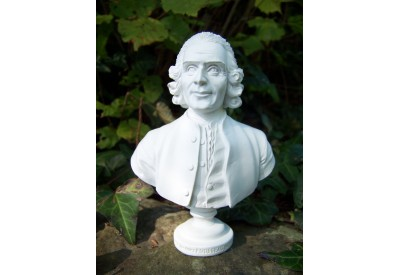 RE0242 FIGURINE STATUETTE REPRODUCTION J JACQUES ROUSSEAU STYLE ALBATRE