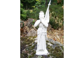 RE0247 FIGURINE STATUETTE REPRODUCTION STYLE ALBATRE JEANNE D ARC