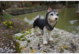 MO0487 FIGURINE STATUETTE CANIN CHIEN HUSKY ANIMAL