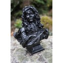 RE0048 N   FIGURINE SCULPTURE NOIR BUSTE  REPRODUCTION LOUIS XIV PAR LE BERNIN