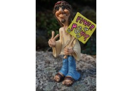 01412302  FIGURINE HIPPIE BABA COOL PEACE AND LOVE 1960 USA  CARICATURE  HUMOUR    HUMORISTIQUE