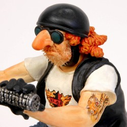 FO85031  FIGURINE LE BIKER MOTARD ROUTE 66 COLLECTION FORCHINO EXCEPTIONELLE
