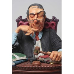 FO85529 FIGURINE LE JUGE MAGISTRAT COLLECTION FORCHINO EXCEPTIONELLE 36CM