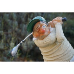 FO85504  FIGURINE  CARICATURE GOLFEUR GOLF COLLECTION FORCHINO   GREEN PUTT 38CM