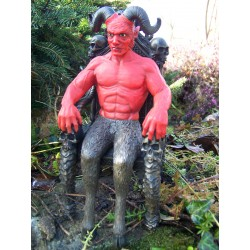 HF1269 FIGURINE STATUETTE DIABLE LUCIFER DEMON MAJESTE SATAN FANTASY CRANE
