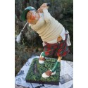 FO84002 FIGURINE  CARICATURE GOLFEUR GOLF COLLECTION FORCHINO   GREEN PUTT