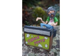 01412307  FIGURINE HIPPIE BABA COOL PEACE AND LOVE MUSIQUE CARICATURE FLOWER