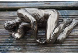 708.5105 FIGURINE STATUETTE HOMME NU MASCULIN POSE SEXY LGBT  GAY  STYLE  BRONZE