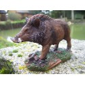 NA0637 FIGURINE STATUETTE SANGLIER GIBIER CHASSE A COURS