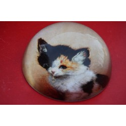 PRK1 SULFURE PRESSE PAPIER H. RONNER KNIP CHATON D EVEIL CHAT PAPERWEIGHT