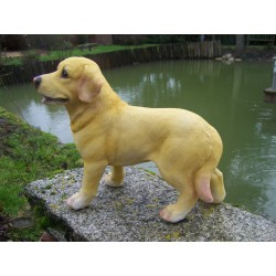 NA0702 GRAND FIGURINE STATUETTE CHIEN LABRADOR L ANIMAL CANIN 35 CM