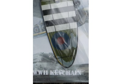 11007 PORTE CLE METAL AILE AVION KEYCHAIN SPITFIRE WING COLLECTION GUERRE 39