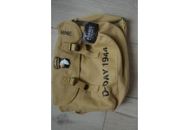 353643 SAC MUSETTE SACOCHE D DAY 1944 JOUR J COLLECTION GUERRE  US 39 45