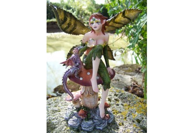 15134D  FIGURINE DRAGON FEE FAIRY HEROIC