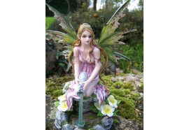 15339 FIGURINE FEE ELFE FONTAINE NATURE