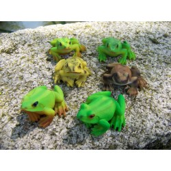 68166 FIGURINE STATUETTE SIX GRENOUILLE ANIMAL DECO JARDIN