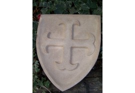 347080 BLASON CROIX CATHARE MEDIEVAL ARMOIRIE PIERRE RECONSTITUEE