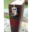 6725 B MARQUE PAGE TRES FIN FIGURINE CHOUETTE NEUF