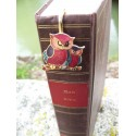 6725 G MARQUE PAGE TRES FIN FIGURINE CHOUETTE NEUF