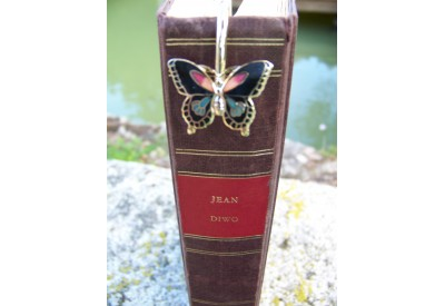 6726 D MARQUE PAGE TRES FIN FIGURINE PAPILLON NEUF