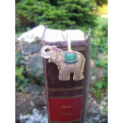 6729 A MARQUE PAGE TRES FIN FIGURINE ELEPHANT ASIE AFRIQUE NEUF