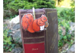 6729 I MARQUE PAGE TRES FIN FIGURINE ECUREUIL NEUF